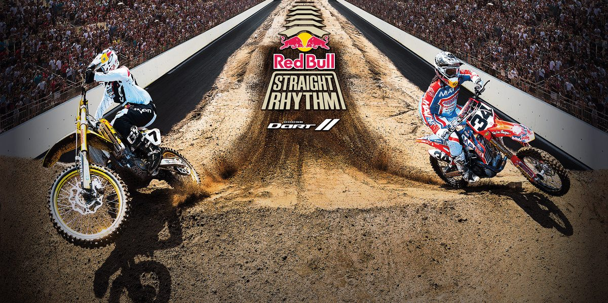 (L-R) James Stewart and Malcolm Stewart in action at the Red Bull Straight Rhythm testing session at Thing Ranch in Alpine, California, USA on 10 October, 2013.